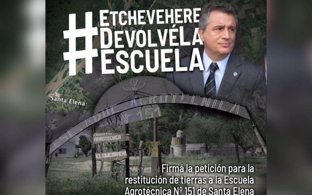 #EtchevehereDevolvéLaEscuela ¡Firmá la petición por la restitución de tierras!